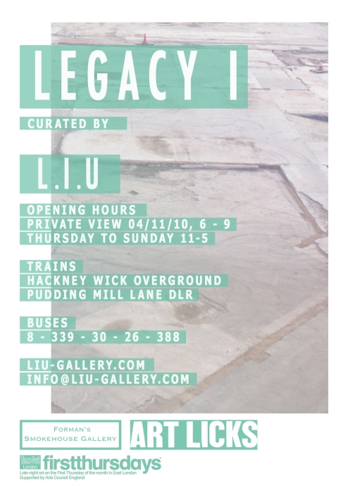 flier for Legacy I, Forman's Smokehouse Gallery's first sculpture show.