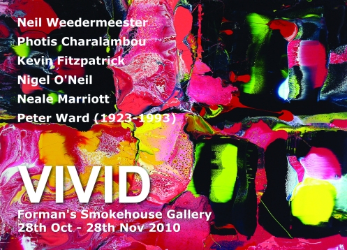flier for Forman's Smokehouse Gallery exhibition - Vivid